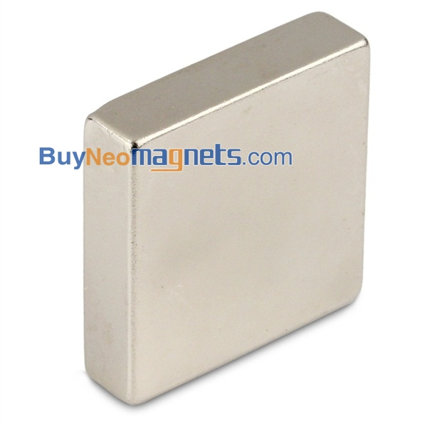 "2/"" x 1/"" x 1//4/"" thick Neodymium N52 2pcs B//P Rare Earth Block Magnets"