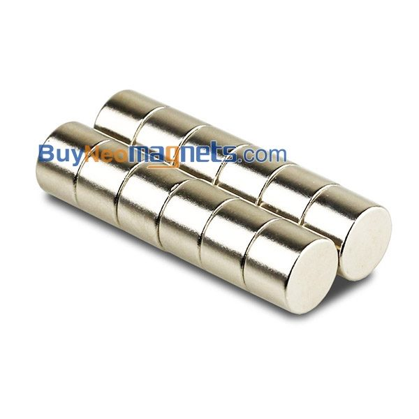 10pcs Super Stong Cylinder Magnets 4 x 10 mm Round Disc Rare Earth Neodymium N35