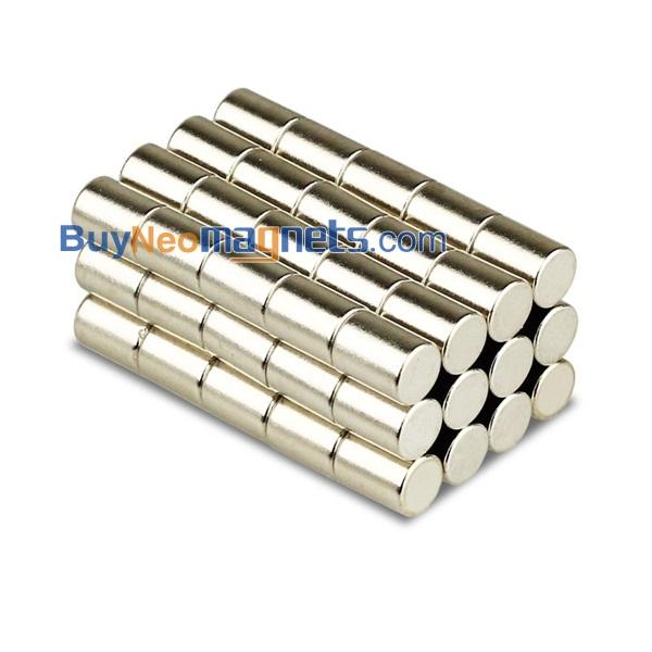 Neodym Magnete Durchmesser 6mm Dicke 1~8mm Rundmagnet Starke Supermagnete N35